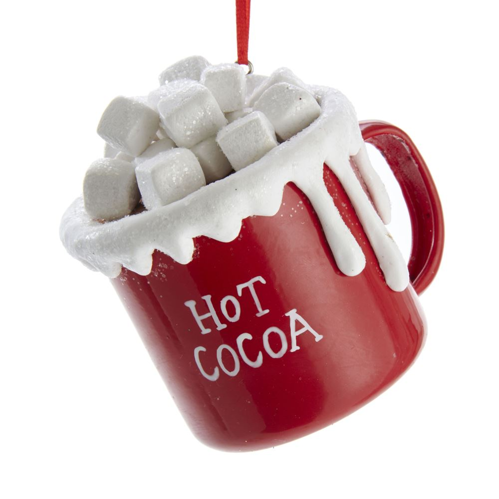 Christmas Ornament - Hot Cocoa Mug with Marshmellows - 3in