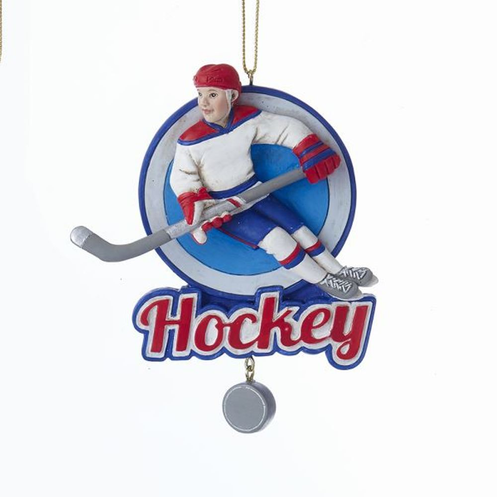 Christmas Ornament - Ice Hockey Boy - 4.5in