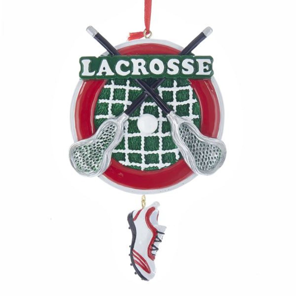 Christmas Ornament - Lacrosse - 6in