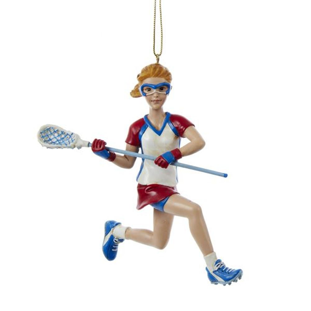Christmas Ornament - Lacrosse Girl - 5in