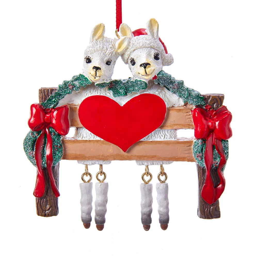 Christmas Ornament - Llama Family of 2 - 4in