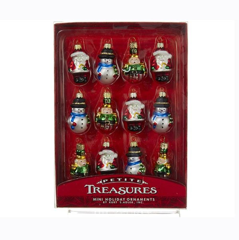 Glass Ornament - Petite Treasures  - Set of 12