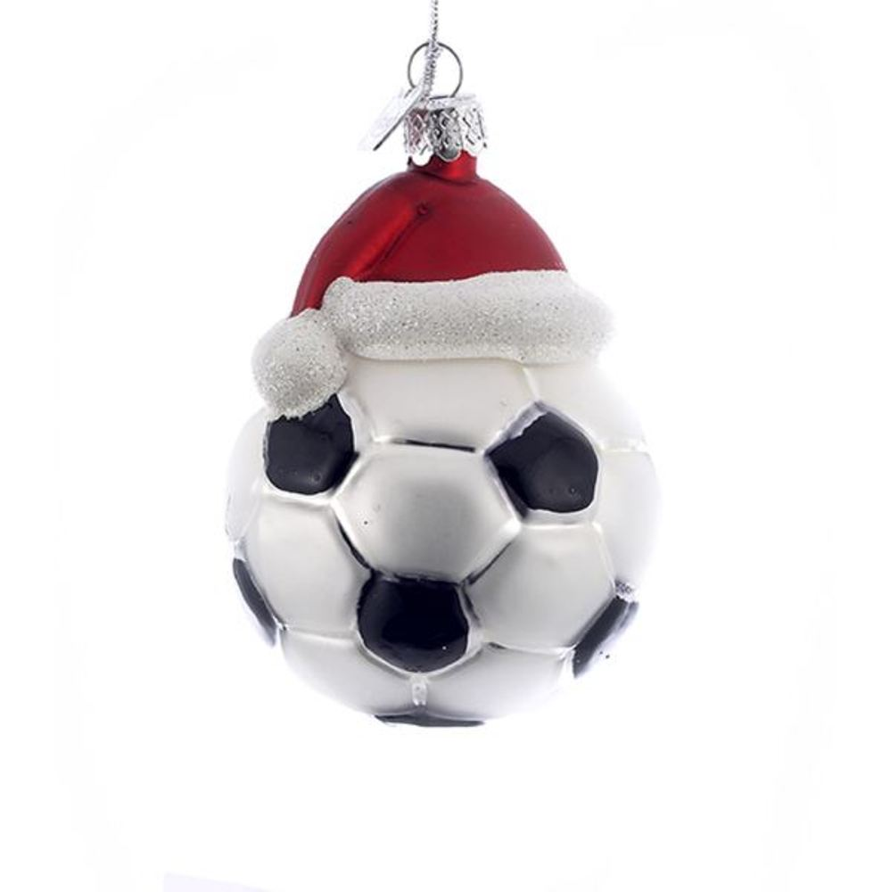 Glass Ornament - Soccer Ball - 3in