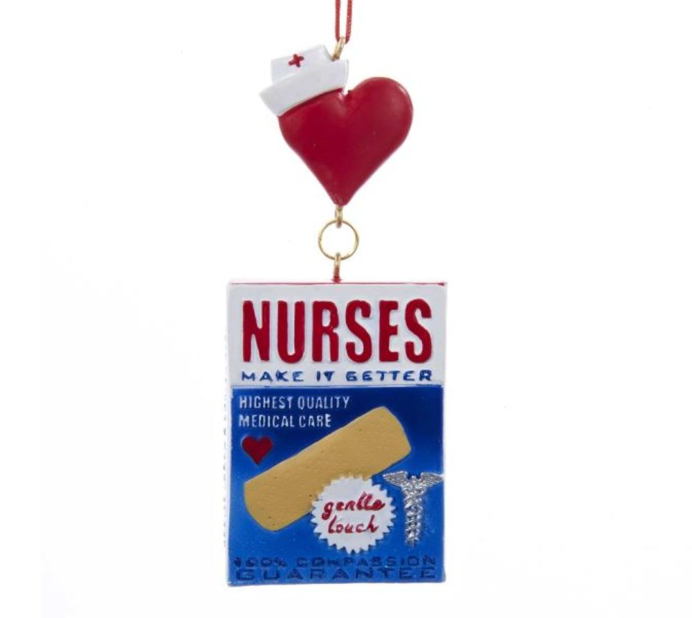 Christmas Ornament - Nurses Bandage Box - 4.25in
