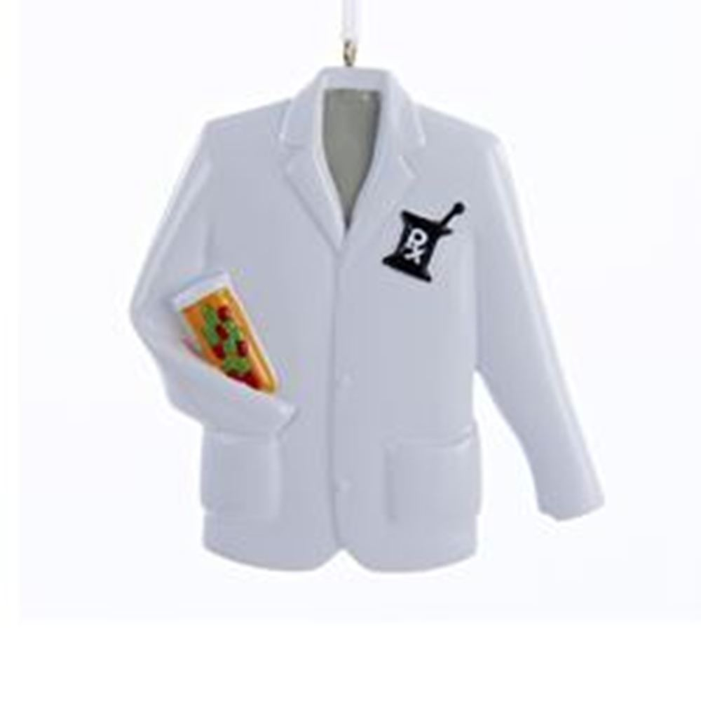 Christmas Ornament - Pharmacist Coat - 3.5in
