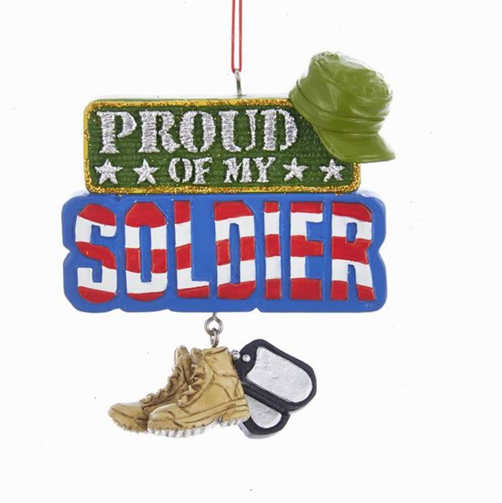 Christmas Ornament - Proud Of My Soldier - 3.75in