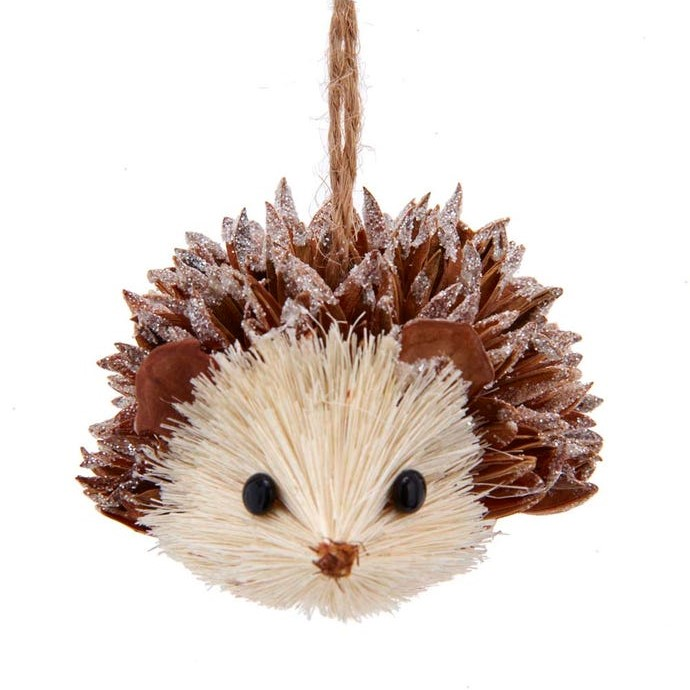 Christmas Ornament - Sisal Hedgehog - 3in