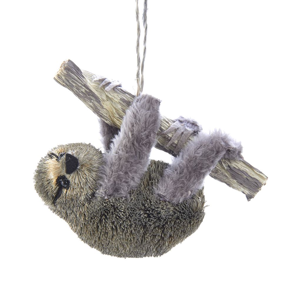 Christmas Ornament - Sloth on Branch - 4.5in