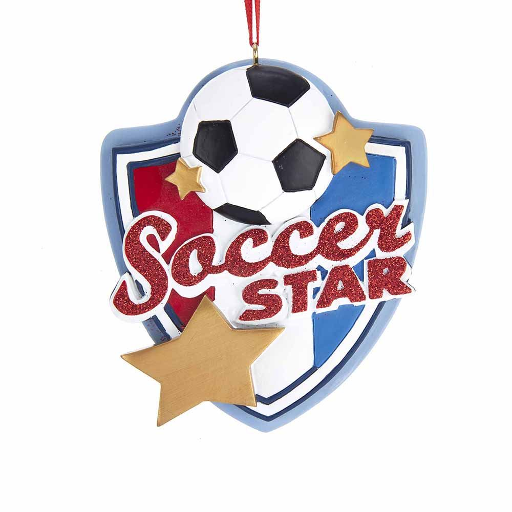 Christmas Ornament - Soccer Star - 3.63in