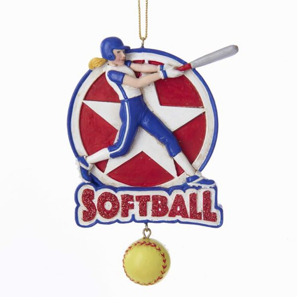 Christmas Ornament - Softball Girl - 4.5in