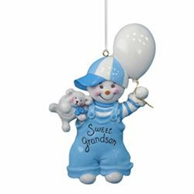 Christmas Ornament - Sweet Grandson - 4.5in