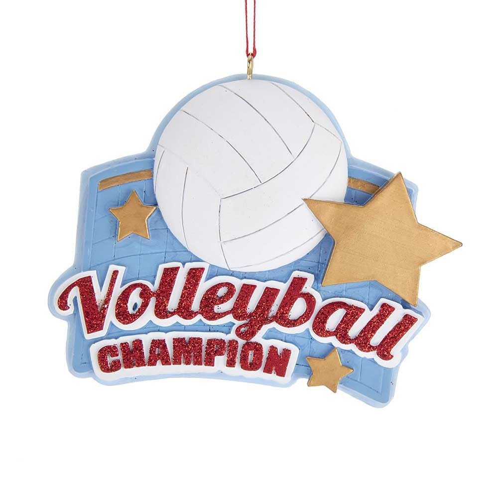 Christmas Ornament - Volleyball Champion - 3.13in