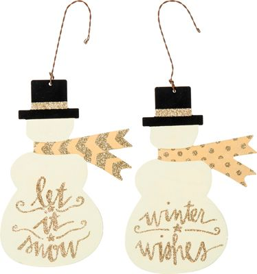 Christmas Ornaments - Snowmen and Snow Ladies