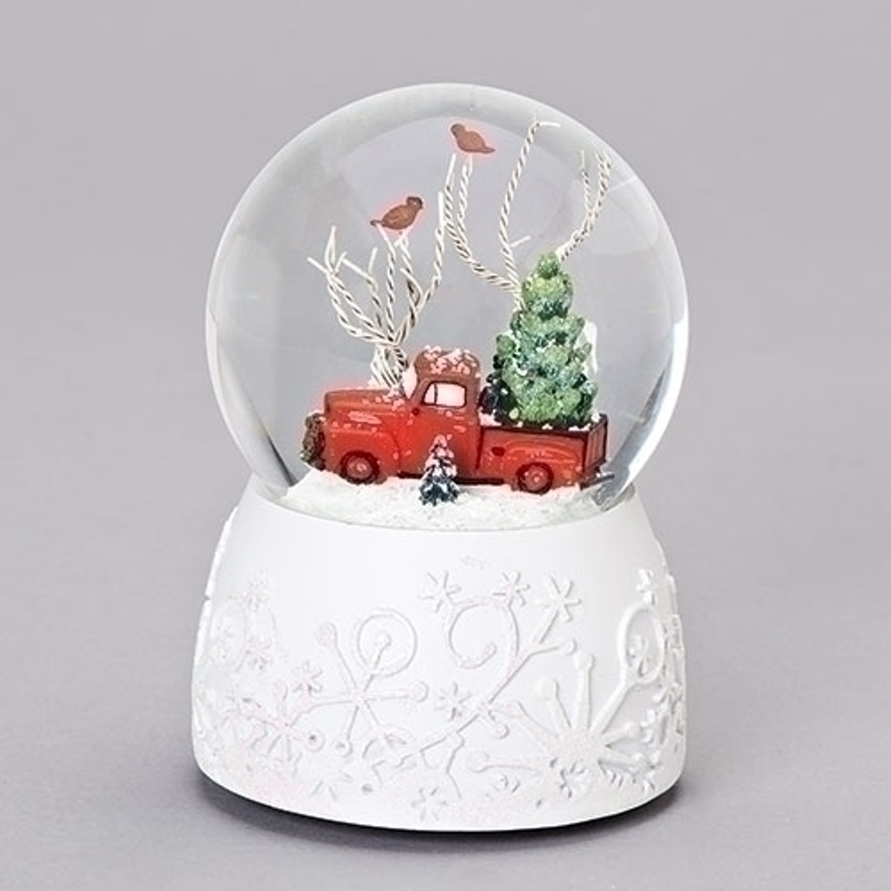 Christmas Snow Globe - Red Truck - 6in
