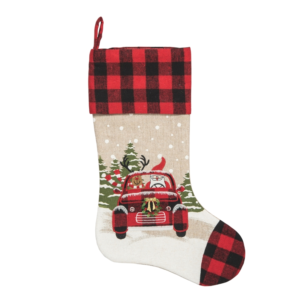 Christmas Stocking - Road Trip Friends - LED Lighted - 20in