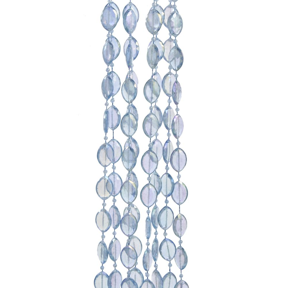 Christmas Tree Garland - Iridescent Blue Beads - 9ft