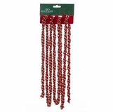 "Christmas Tree Garland - ""Red/Gold Twist Garland"" - 9 ft"