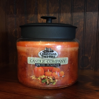 Christmas Tree Hill Fragranced Candle - 64 oz. Jar with Metal Lid - Spiced Pumpkin