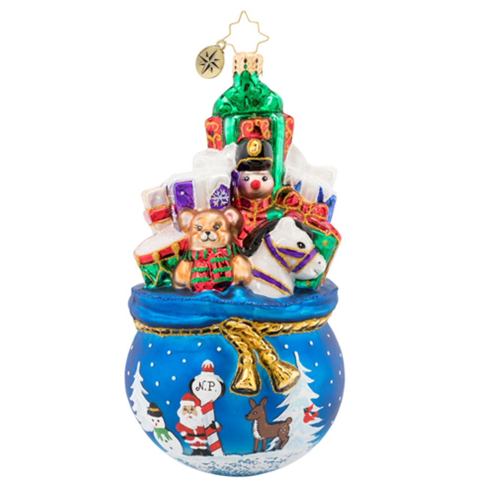 Christopher Radko Glass Ornament - A Bag of Delights 2019