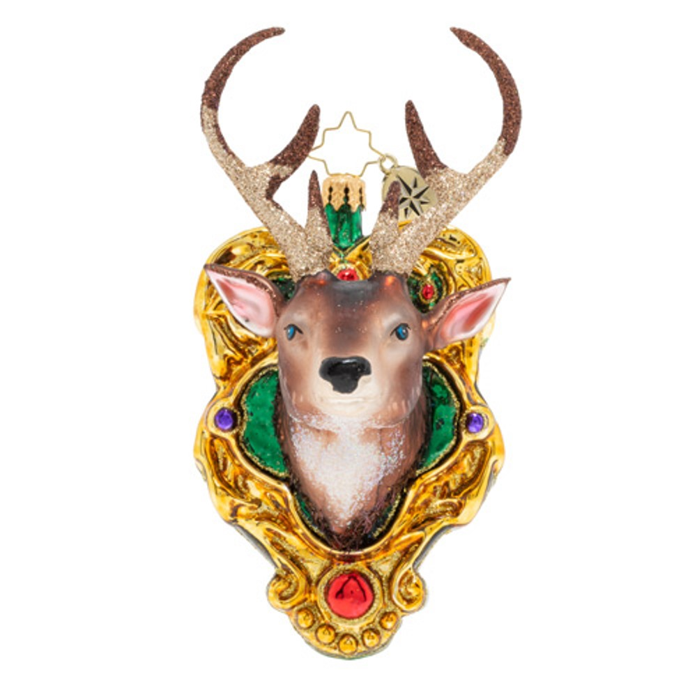 Christopher Radko Glass Ornament - A Buck For Christmas 2020