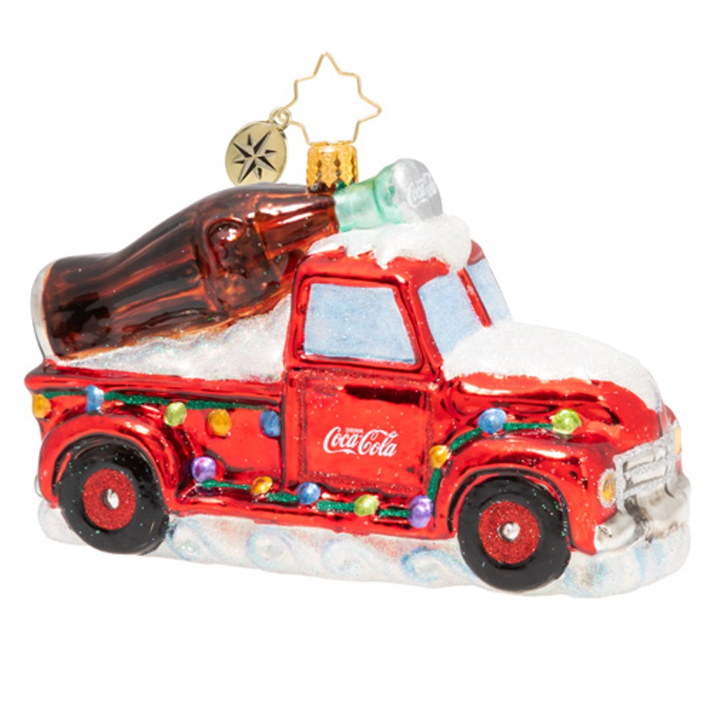 Christopher Radko Glass Ornament - A Coca-Cola Celebration 2020