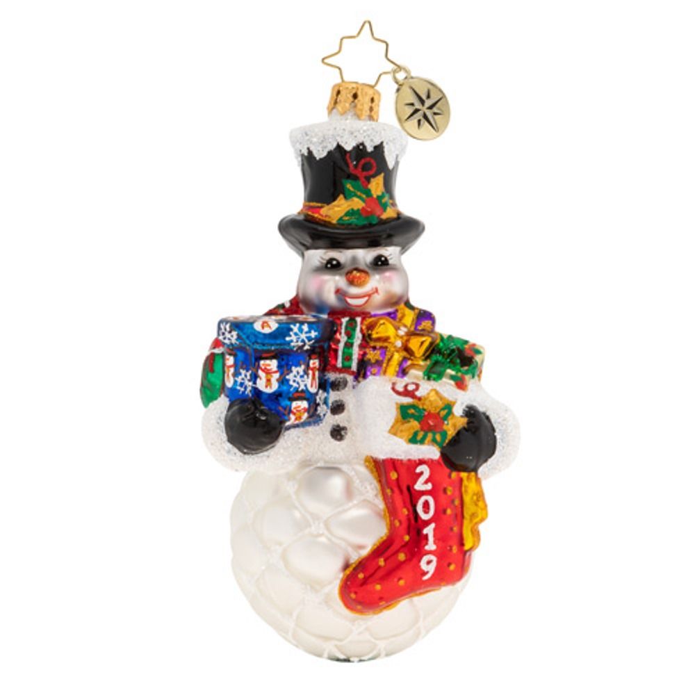 Christopher Radko Glass Ornament - A Frosty 2019 Armful