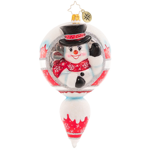 Christopher Radko Glass Ornament - A Frosty Hello 2021