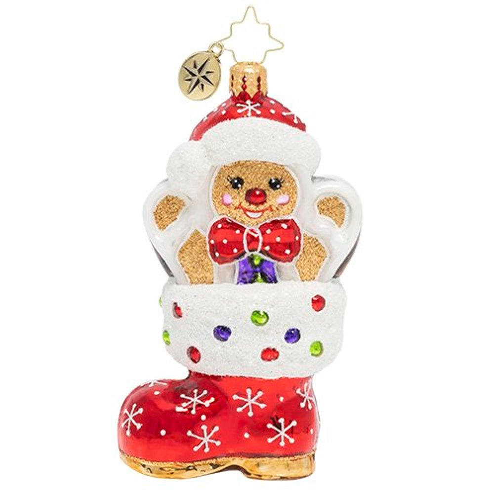 Christopher Radko Glass Ornament - A Gingerbread Surprise 2020