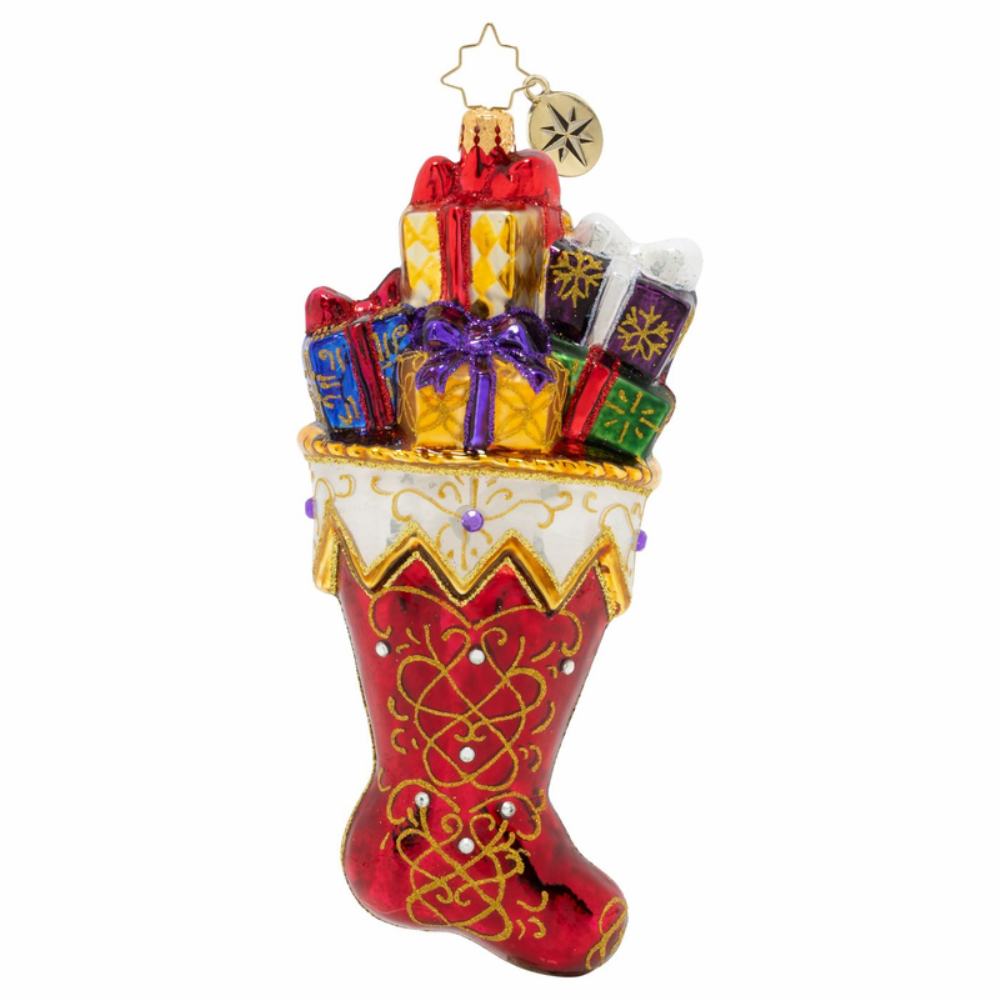 Christopher Radko Glass Ornament - A Sock Fit For Royalty - Limited Ed 2020
