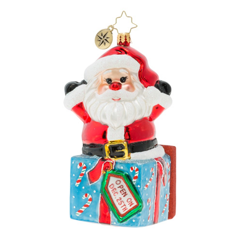 Christopher Radko Glass Ornament - A Warm Hug From Santa 2019