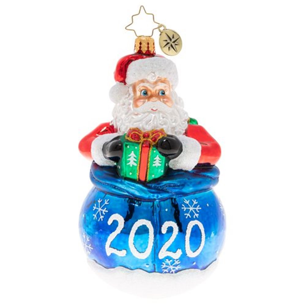 Christopher Radko Glass Ornament - A Year Of Cheer 2020