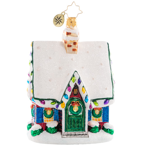 Christopher Radko Glass Ornament - Adorably Adorned Cottage BT 2021