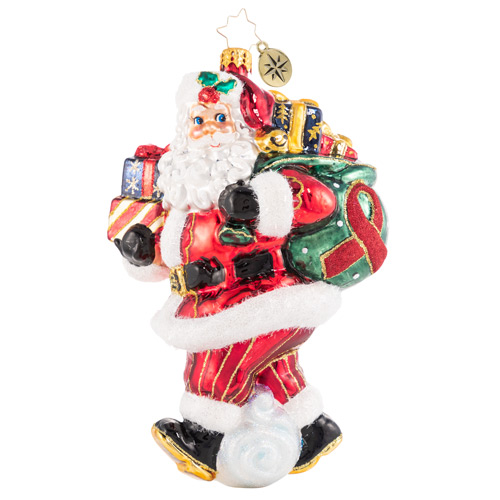 Christopher Radko Glass Ornament - AIDS Charity Claus 2021