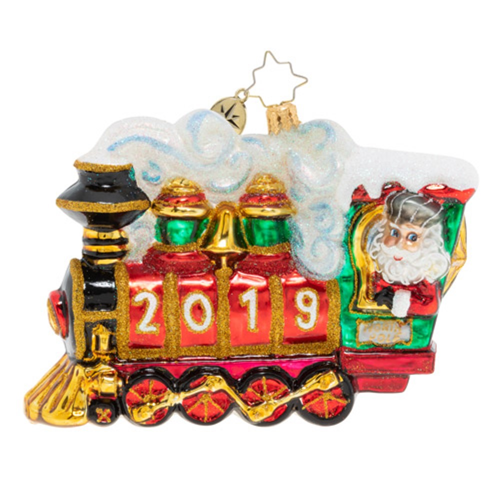Christopher Radko Glass Ornament - All Aboard 2019