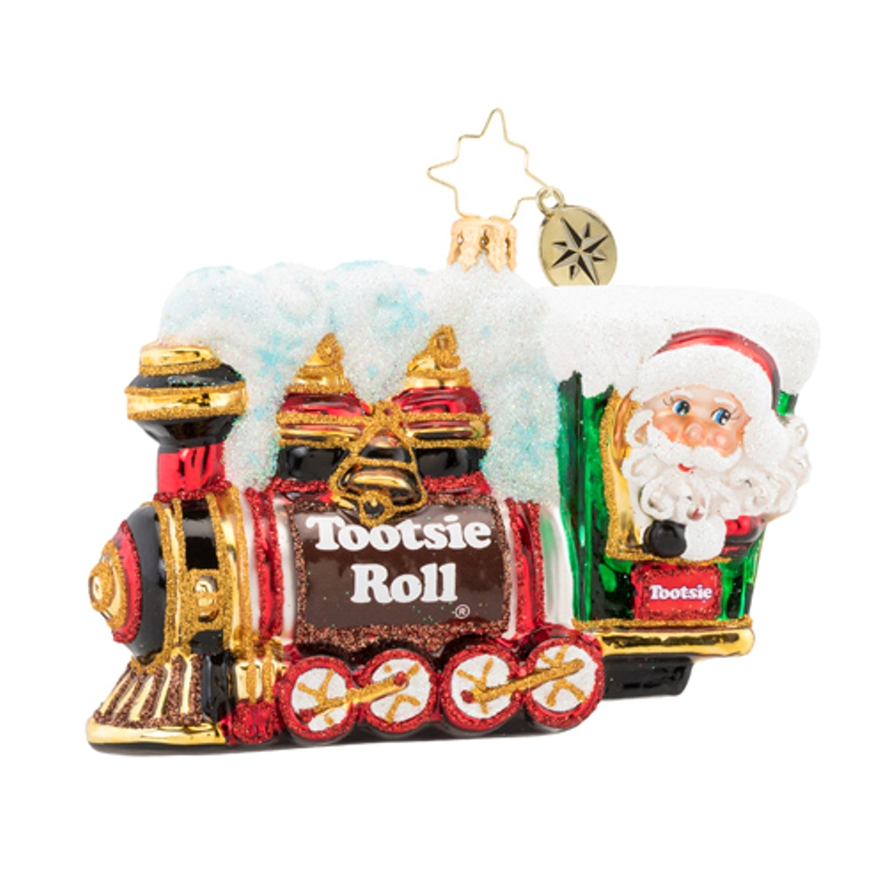 Christopher Radko Glass Ornament - All Aboard The Tootsie Express 2019