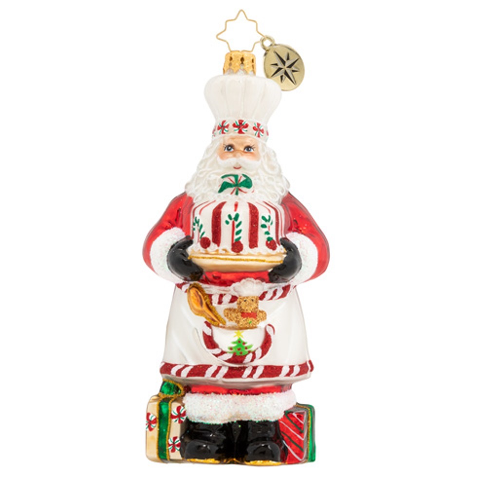 Christopher Radko Glass Ornament - Baked With Love Santa 2020