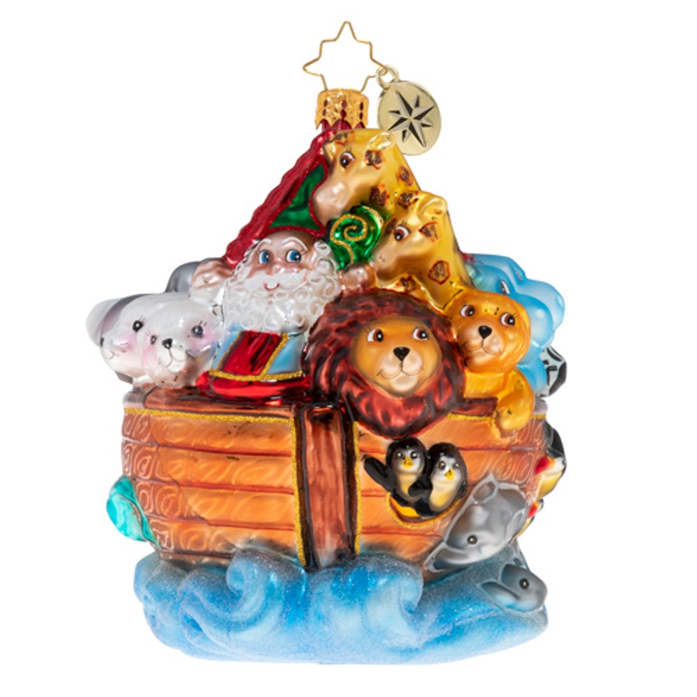 Christopher Radko Glass Ornament - Boarding Two By Two 2020