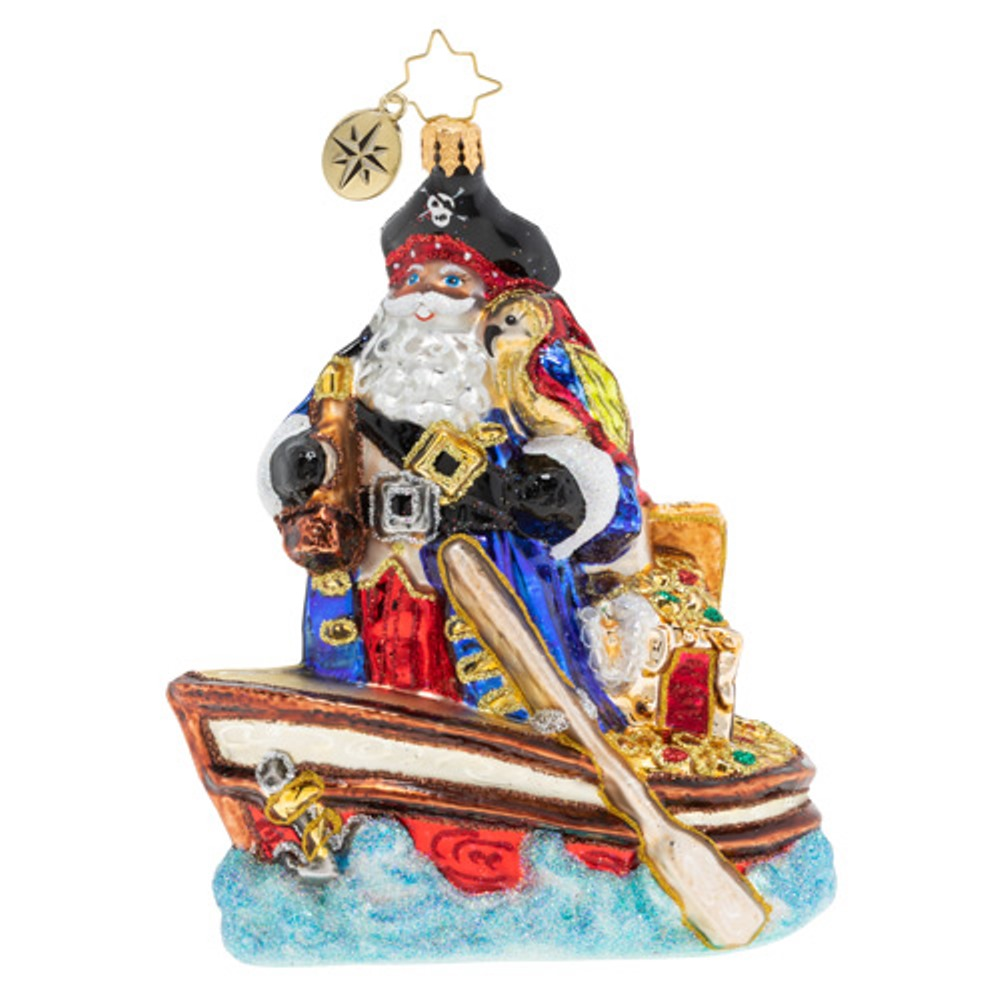 Christopher Radko Glass Ornament - Buccaneer Santa 2019