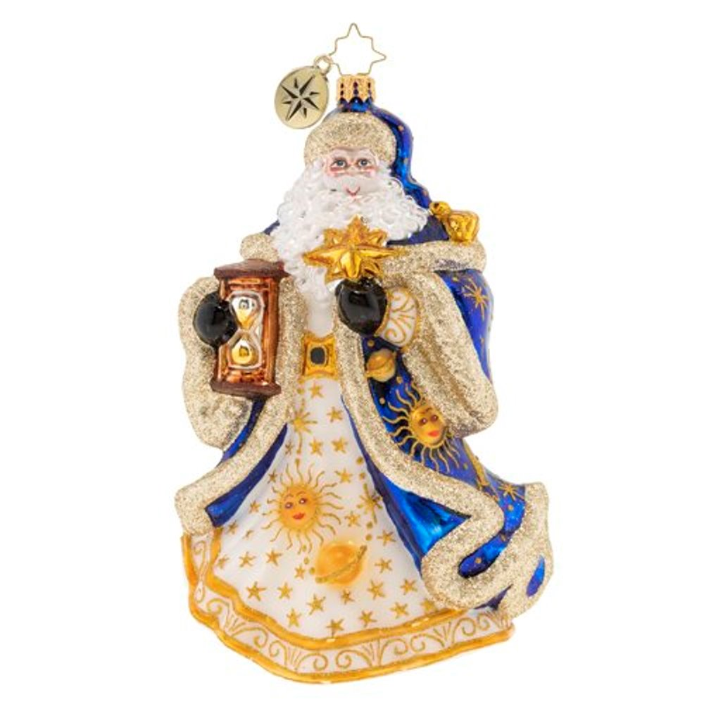 Christopher Radko Glass Ornament - Celestial Santa 2020