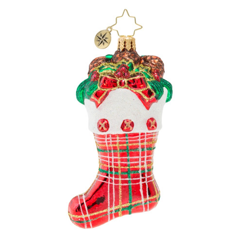 Christopher Radko Glass Ornament - Classic Country Stocking 2019