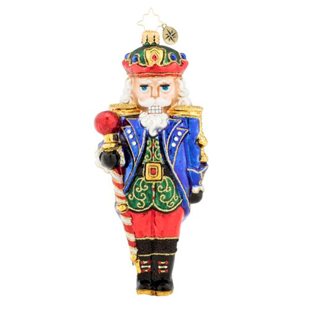 Christopher Radko Glass Ornament - Commander of Nutcrackers 2019