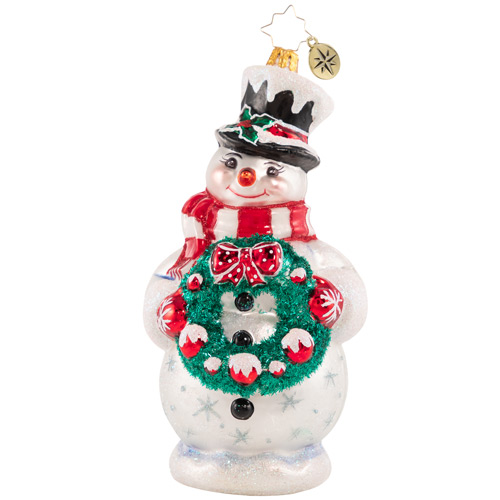 Christopher Radko Glass Ornament - Darling Christmas Decorator 2021