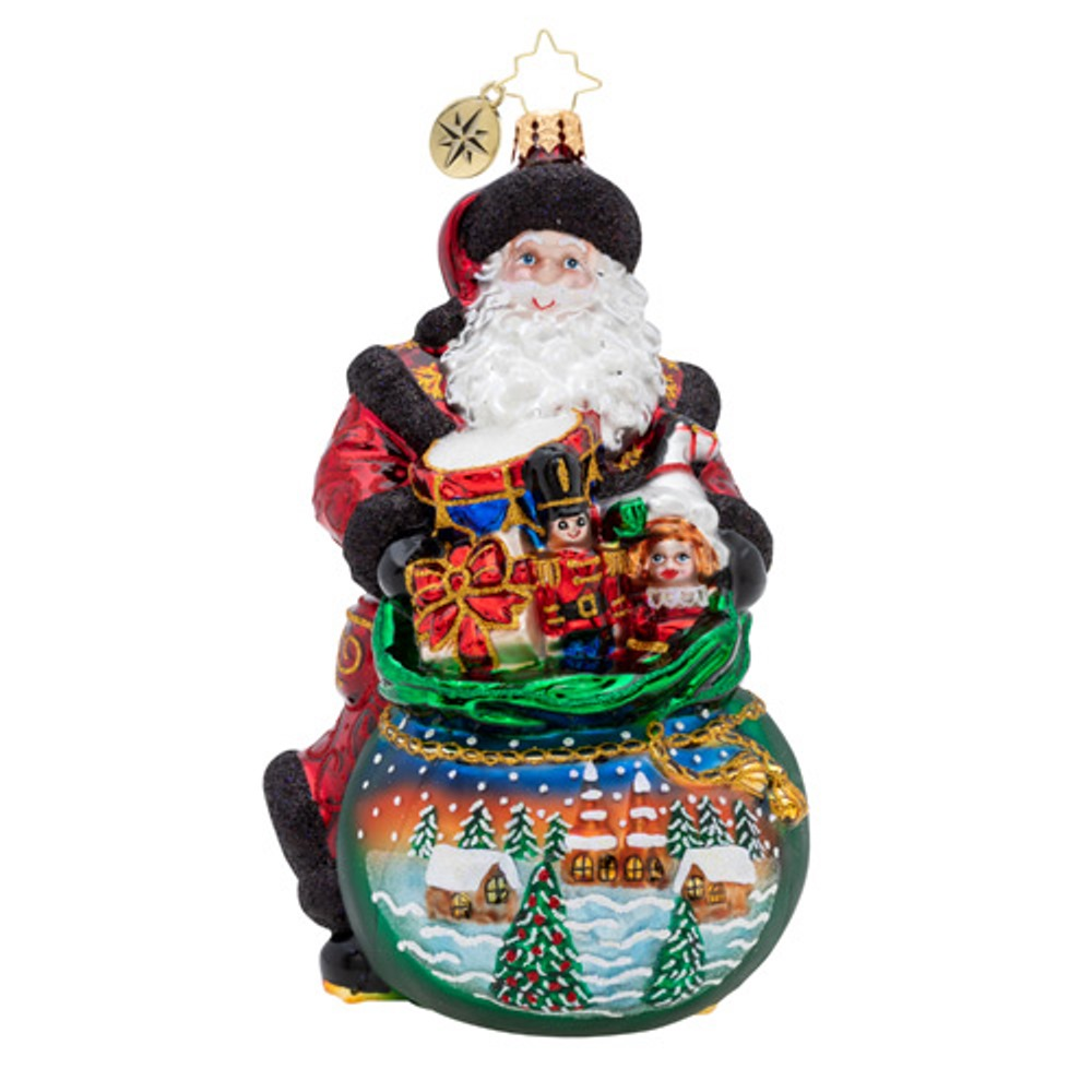 Christopher Radko Glass Ornament - Delightful Delivery 2019