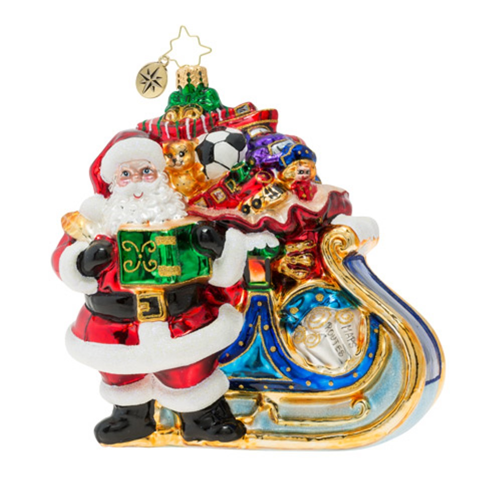 Christopher Radko Glass Ornament - Delivery On Its Way 2019