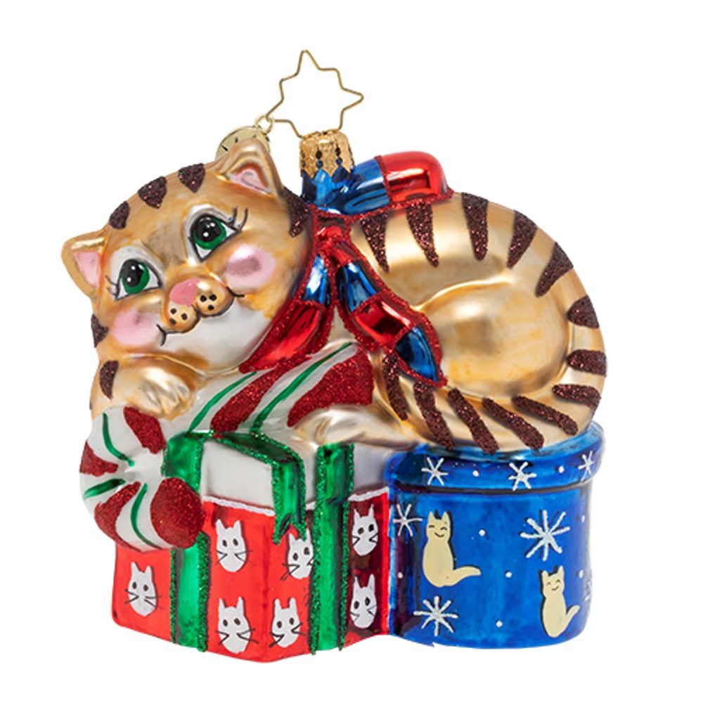 Christopher Radko Glass Ornament - Dreaming of Christmas Kitten 2019