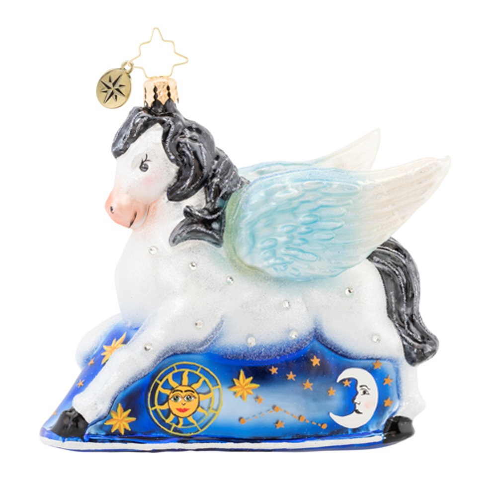 Christopher Radko Glass Ornament - Dreaming of Pegasus 2019