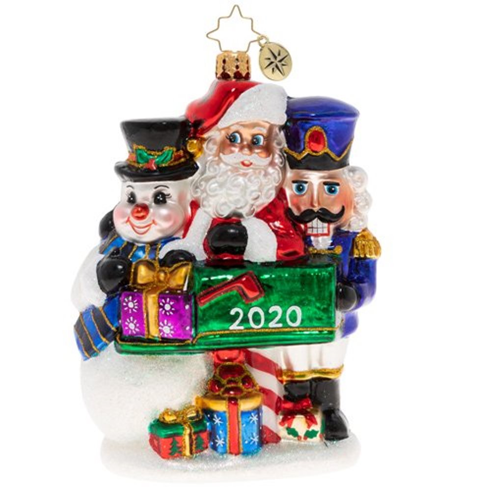 Christopher Radko Glass Ornament - Forever Treasured Trio 2020