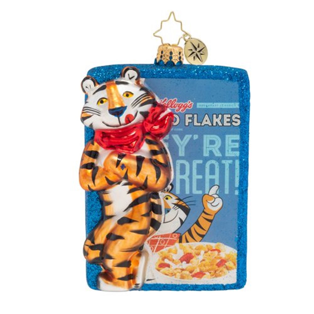 Christopher Radko Glass Ornament - Frosted Flakes, They're GRRRREAT 2019