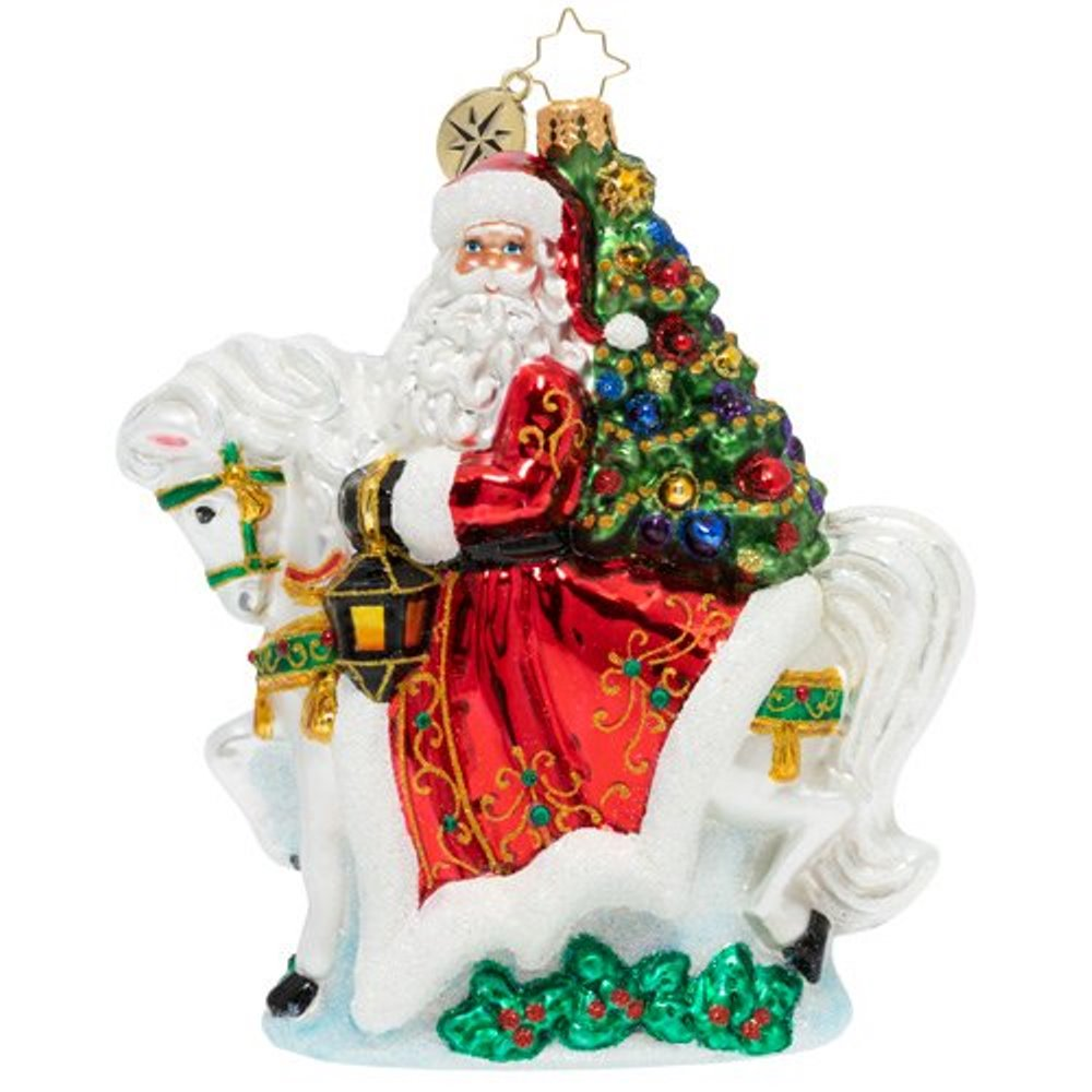 Christopher Radko Glass Ornament - Galloping Into Christmas 2020