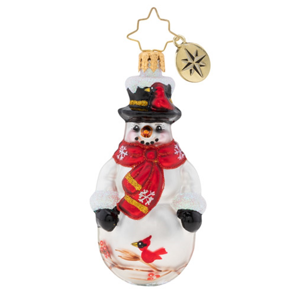 Christopher Radko Glass Ornament Gem - Christmas Cardinal Keeper 2019